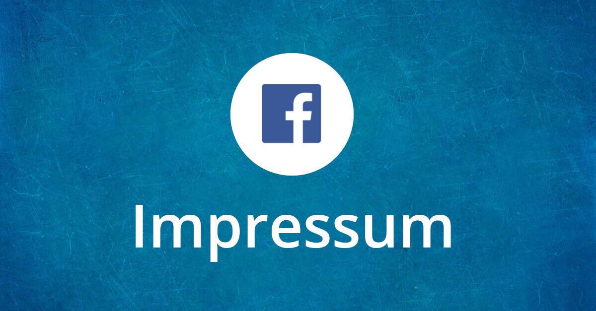 Facebook Impressum UWG