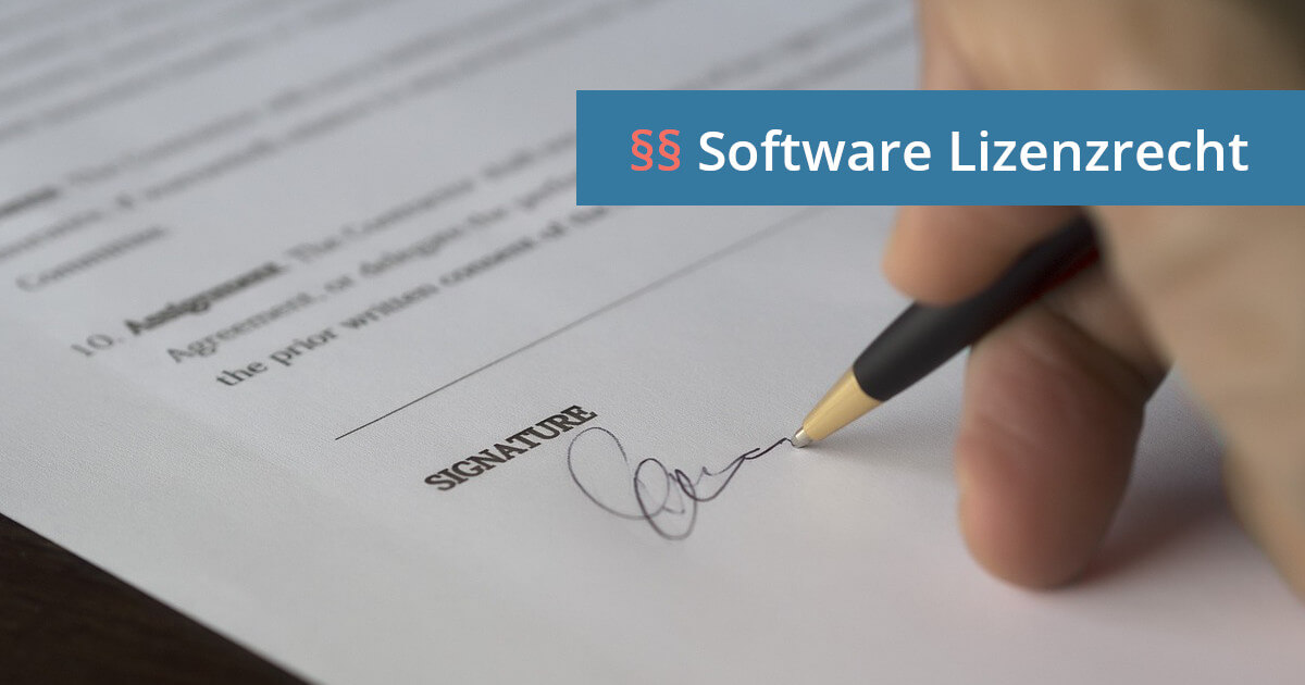 software lizenzvertrag anwalt
