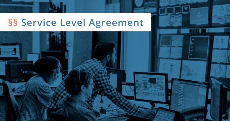 service level agreement vertrag