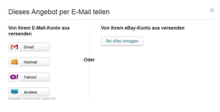 Weiterempfehlung eBay