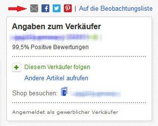 eBay Weiterempfehlung