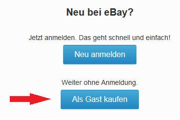 eBay als Gast kaufen