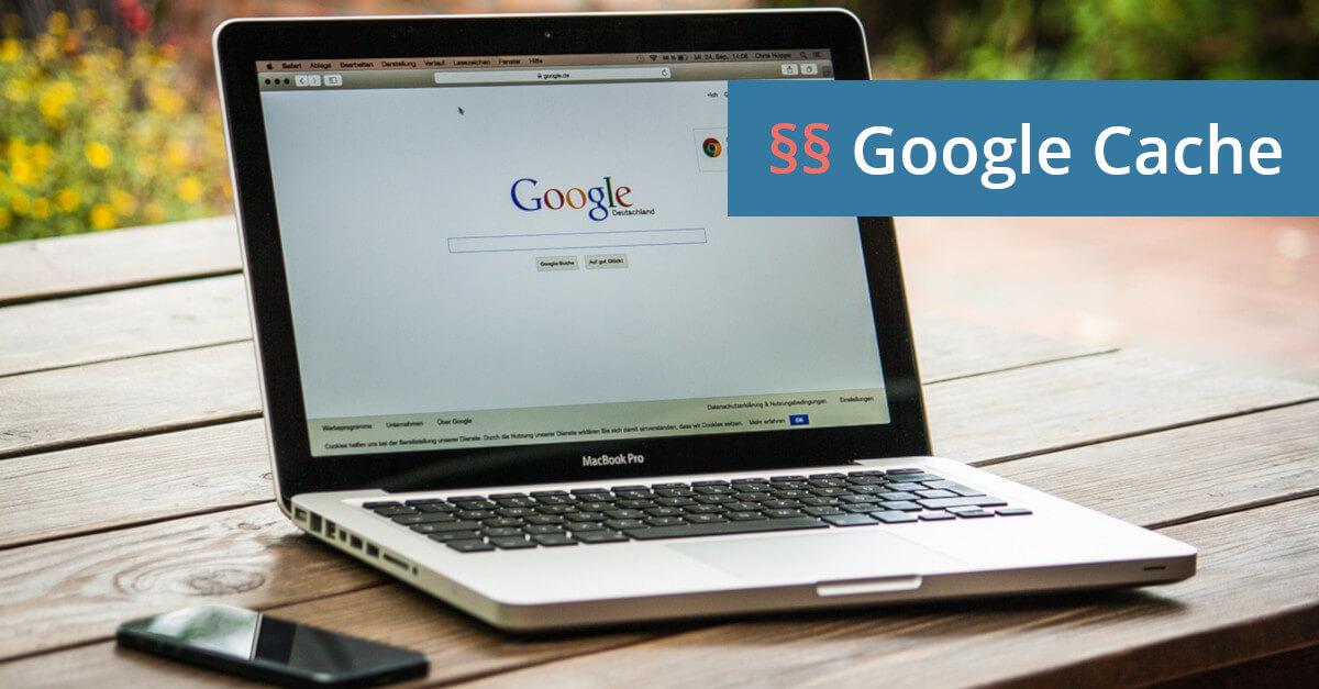 Vertragsstrafe Google Cache