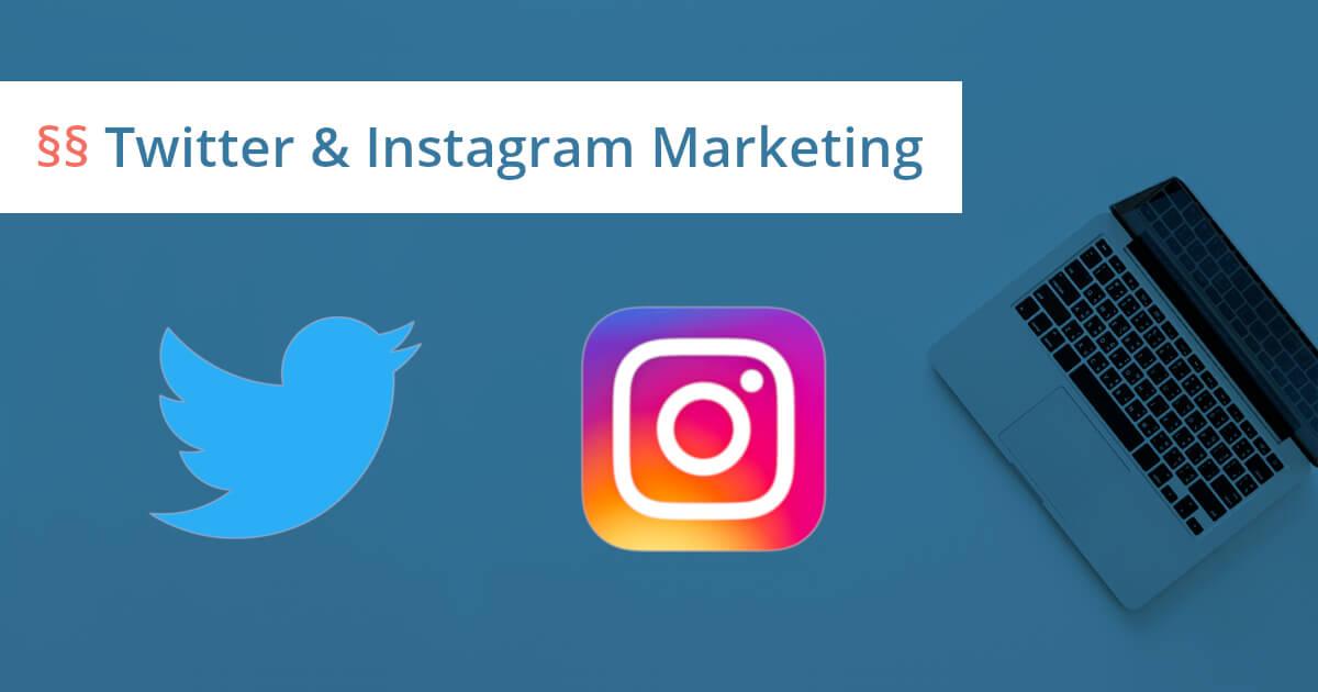 Twitter und Instagram Marketing