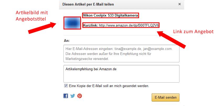 Amazon Weiterempfehlungsfunktion OLG Hamm