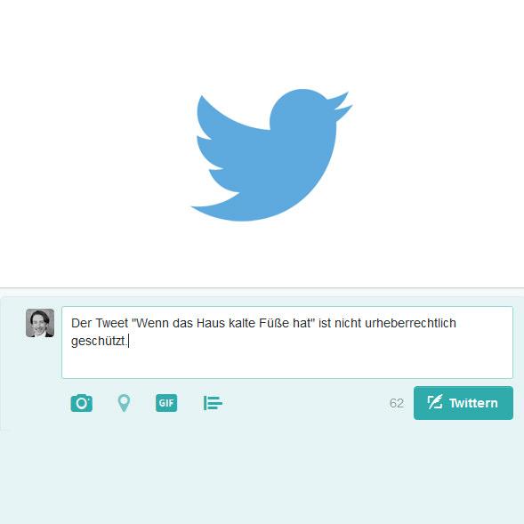 Tweet urheberrechtlich geschützt