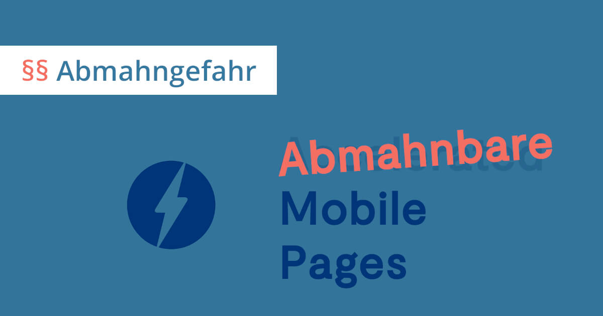 WordPress AMP Plugin abmahnbar