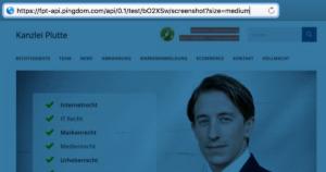pingdom scan screenshot