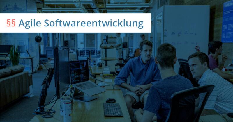 agile softwareentwicklung vertrag