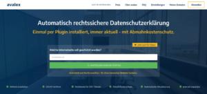 avalex Datenschutz Generator DSGVO