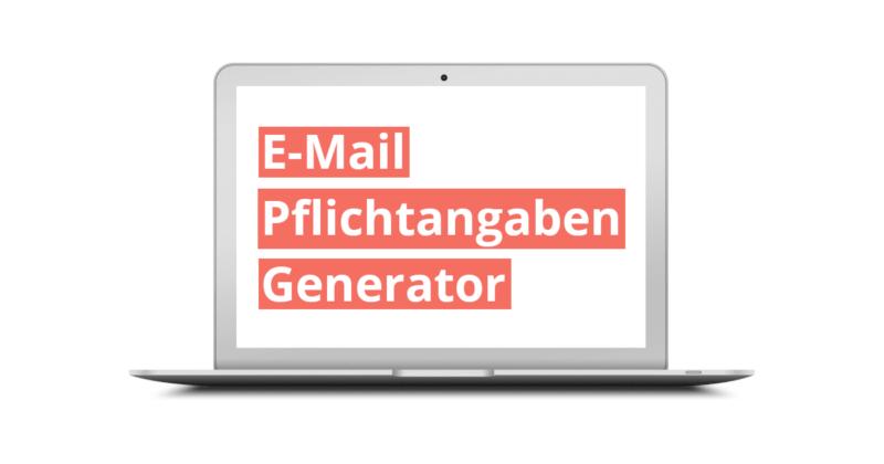 E-Mail Pflichtangaben Generator