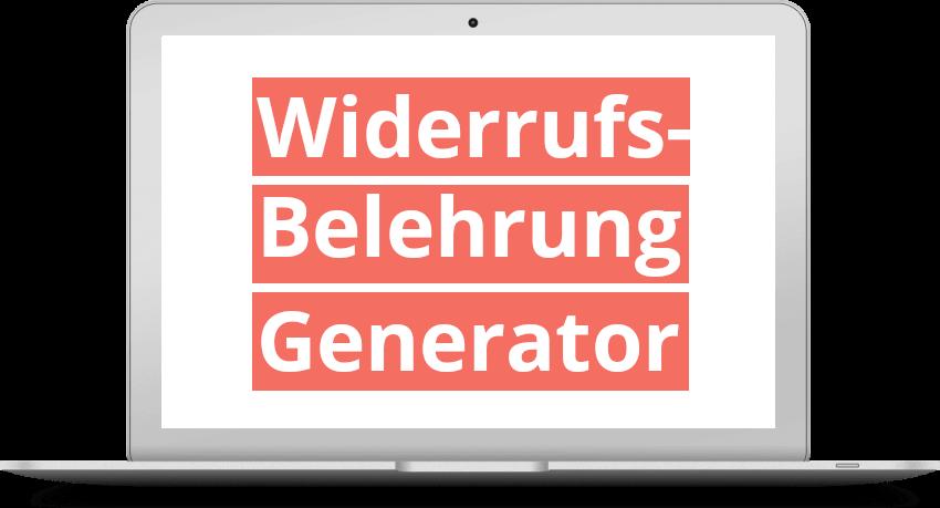 Widerrufsbelehrung Generator