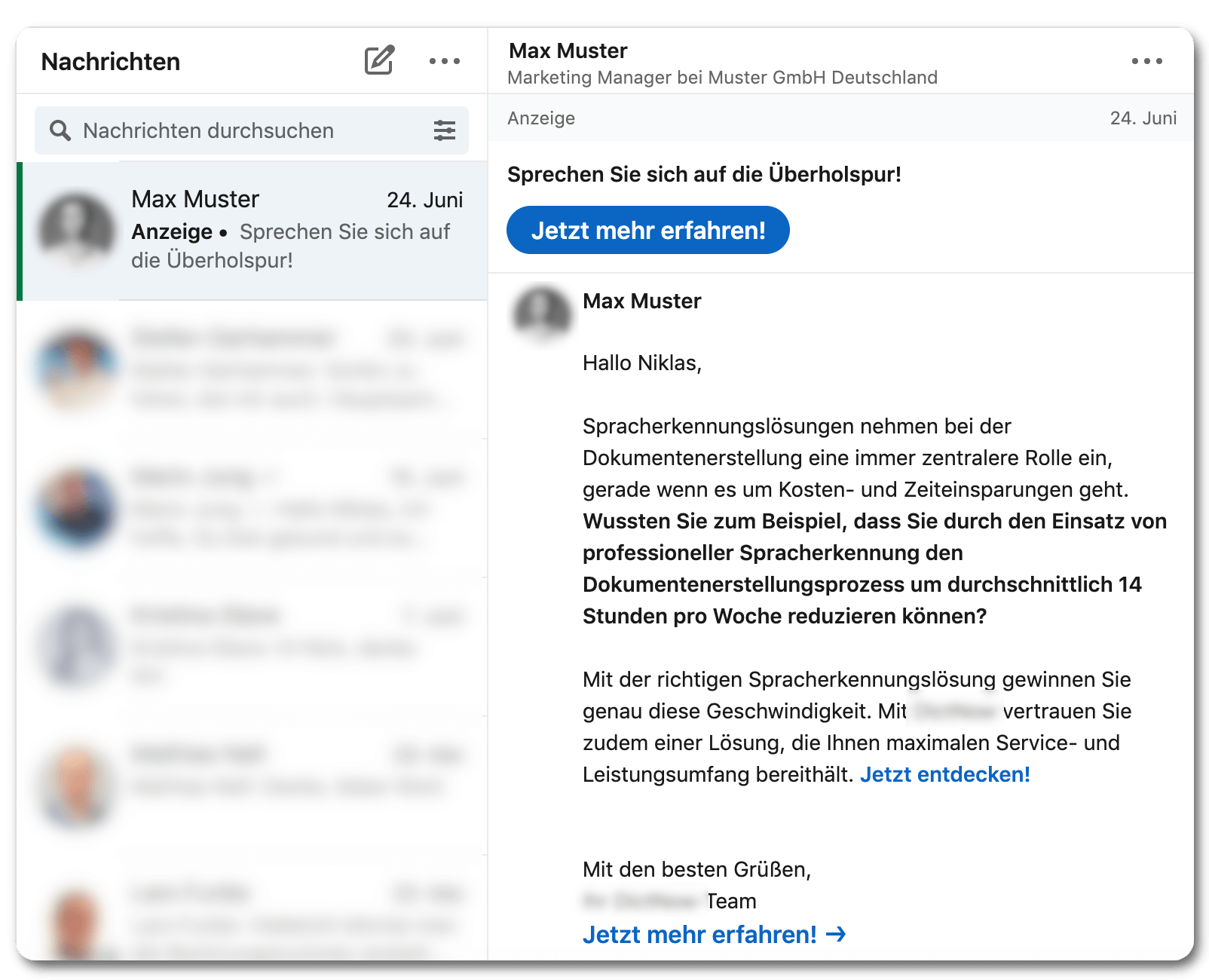 inbox werbung recht
