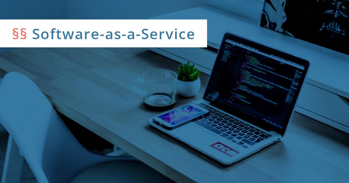 software as a service vertrag