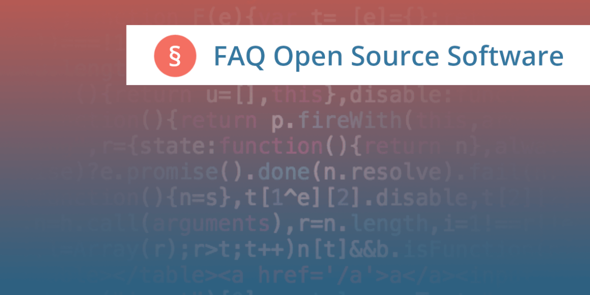 Open Source Software Anwalt