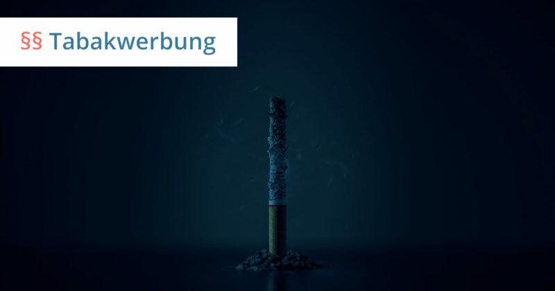 zigaretten werbung recht