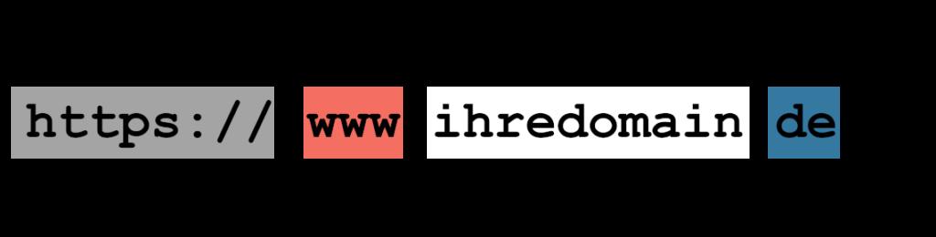 aufbau einer domain