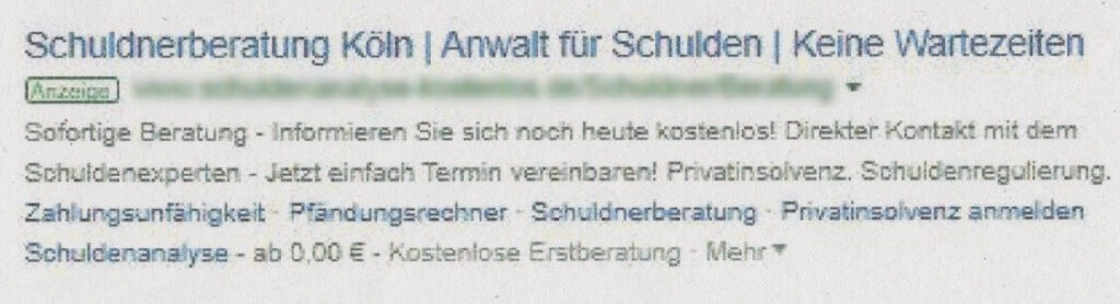OLG Hamburg Schuldnerberatung Köln